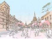 Artist impression of High Street in 2050