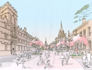 Artist impression of High Street in 2050