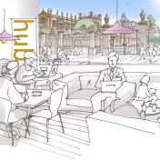 Artist impression of a shared workspace in 2050