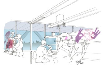 Artist impression of a research laboratory in 2050