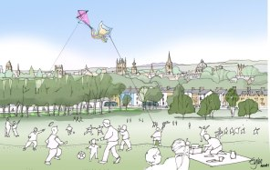 Artist impression of the Dreaming Spires from South Park in 2050