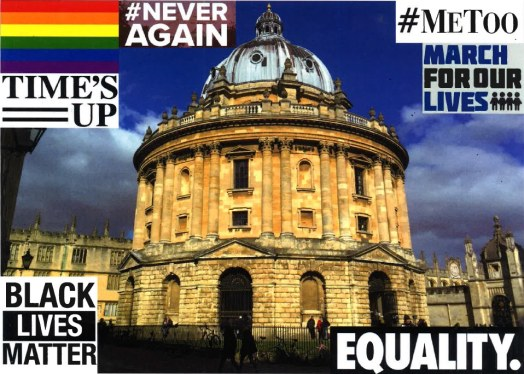 Image of Radcliffe Camera and slogans